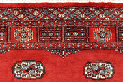 Orange Red Bokhara 4' 1 x 6' 3 - No. 61064 - ALRUG Rug Store