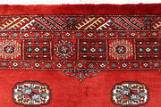 Orange Red Bokhara 4' 2 x 6' - No. 61065 - ALRUG Rug Store