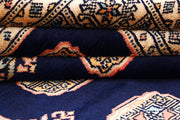 Midnight Blue Bokhara 4' 2 x 7' - No. 61085 - ALRUG Rug Store