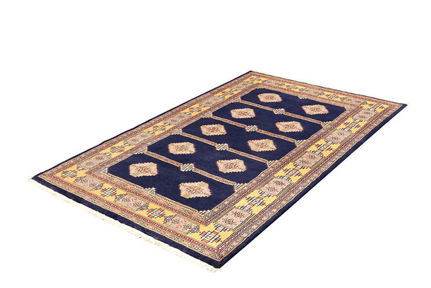 Midnight Blue Jaldar 4' 2 x 6' 5 - No. 61086 - Alrug Rug Store