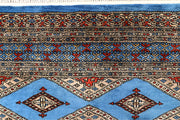 Light Sky Blue Jaldar 4' x 5' 3 - No. 61087 - Alrug Rug Store
