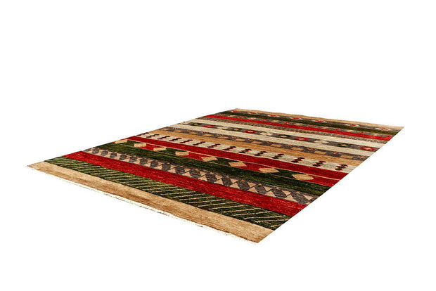 Multi Colored Gabbeh 4' 7 x 6' 4 - No. 61118 - ALRUG Rug Store