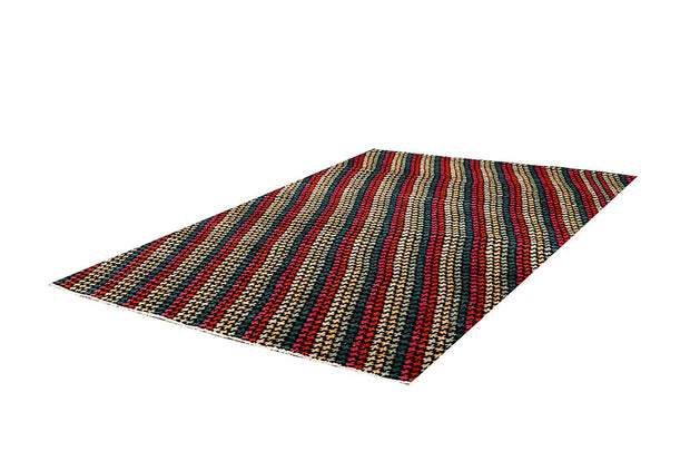 Multi Colored Gabbeh 5' 7 x 8' - No. 61184 - ALRUG Rug Store