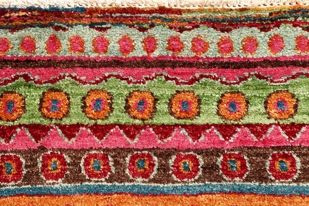 Multi Colored Gabbeh 2' 7 x 16' 9 - No. 61191 - ALRUG Rug Store