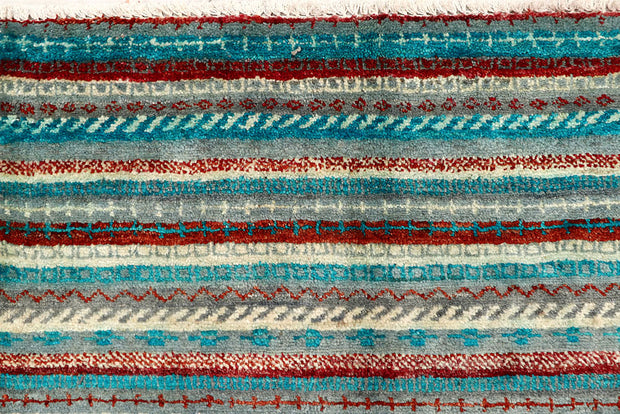 Multi Colored Gabbeh 5' 2 x 6' 10 - No. 61215 - ALRUG Rug Store