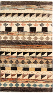 Multi Colored Gabbeh 3' x 5' 2 - No. 61234 - ALRUG Rug Store