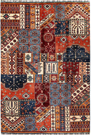 Multi Colored Kazak 5' 7 x 8' 5 - No. 61258 - ALRUG Rug Store