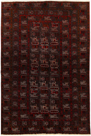 Multi Colored Baluchi 6' 4 x 9' 7 - No. 61800 - ALRUG Rug Store
