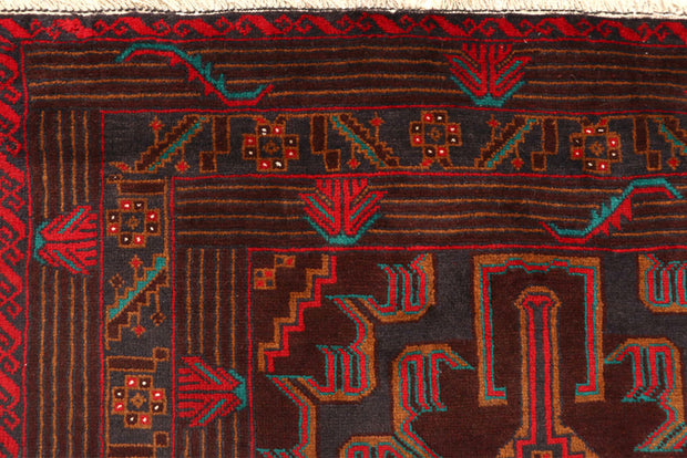 Multi Colored Baluchi 5' 11 x 9' 7 - No. 61804 - ALRUG Rug Store