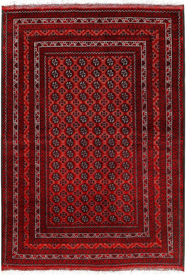 Multi Colored Baluchi 3' 3 x 4' 9 - No. 61808 - ALRUG Rug Store