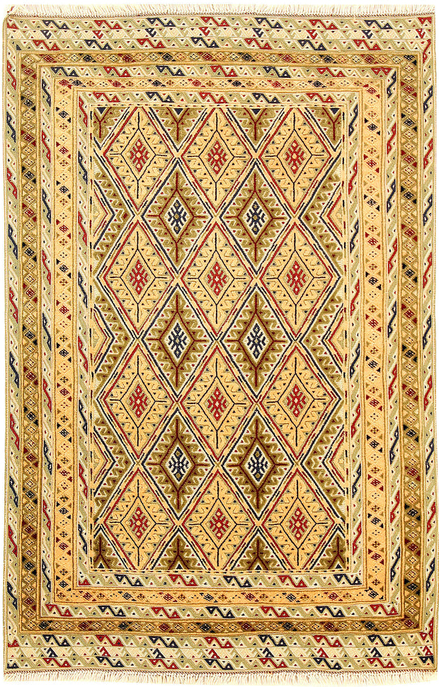 Multi Colored Mashwani 2' 9 x 4' 2 - No. 61854 - ALRUG Rug Store
