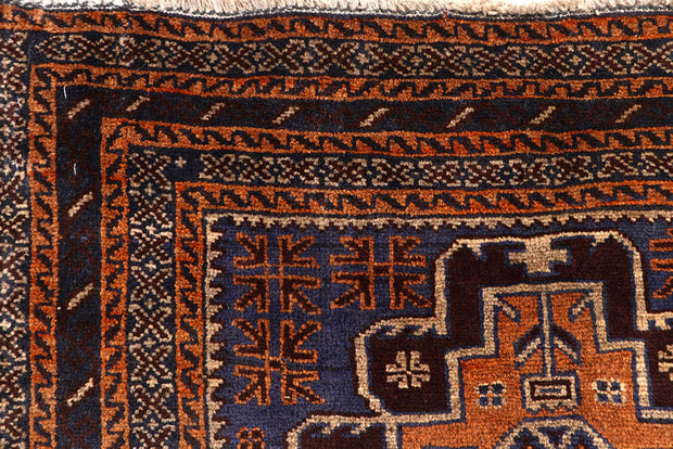 Multi Colored Baluchi 3' 3 x 9' 7 - No. 61877 - ALRUG Rug Store