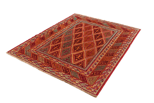 Multi Colored Mashwani 4' 10 x 5' 10 - No. 61881 - ALRUG Rug Store