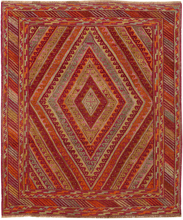Multi Colored Mashwani 5' x 5' 11 - No. 61885 - ALRUG Rug Store