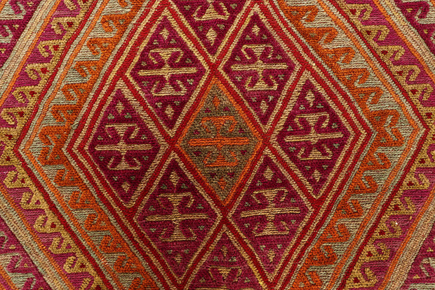 Multi Colored Mashwani 4' 11 x 5' 10 - No. 61890 - ALRUG Rug Store