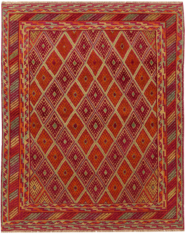 Multi Colored Mashwani 5' 3 x 6' 3 - No. 61905 - ALRUG Rug Store