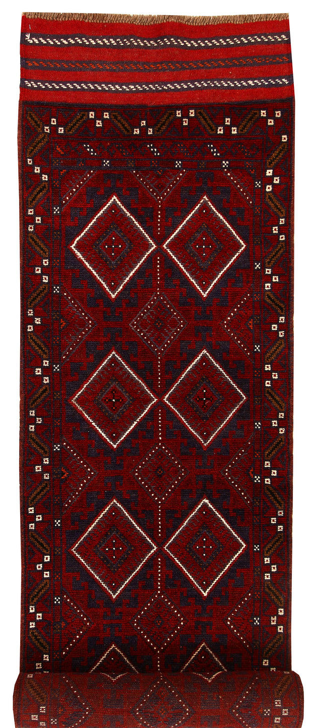 Multi Colored Mashwani 2' 6 x 11' 9 - No. 61910 - ALRUG Rug Store