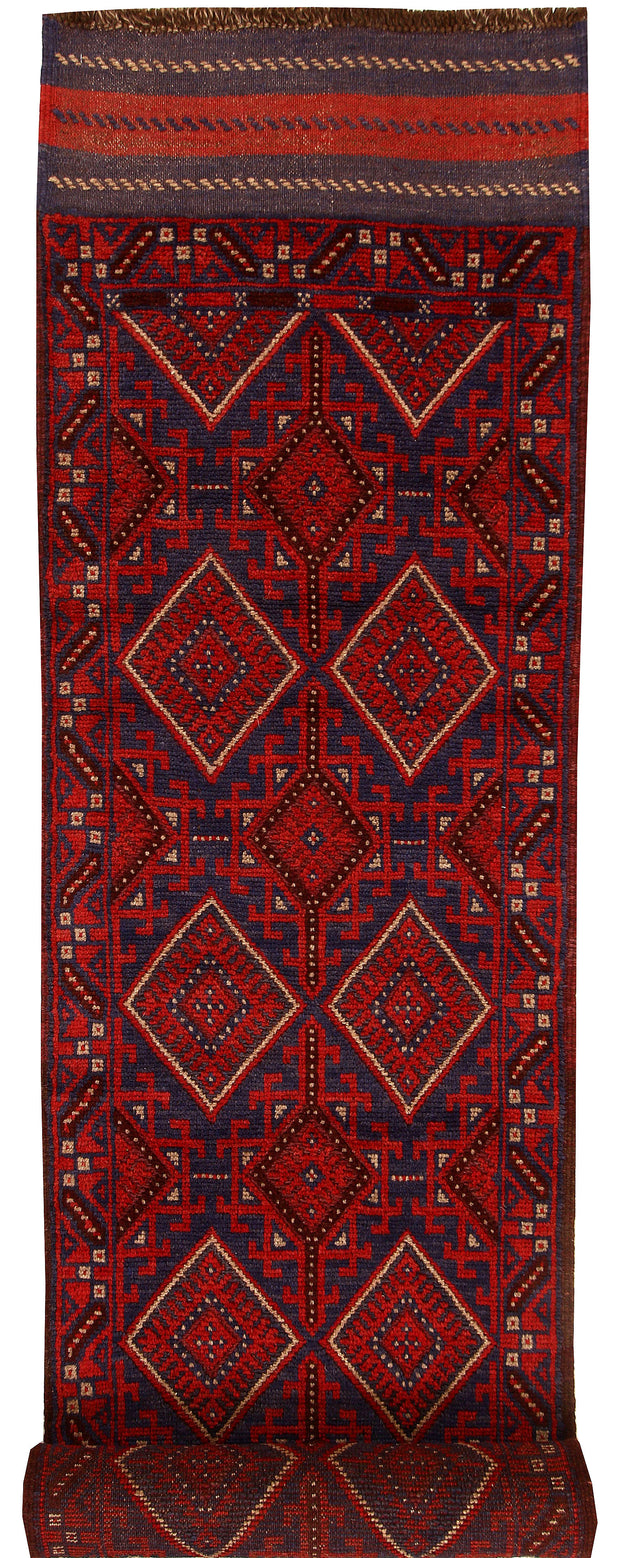 Multi Colored Mashwani 2' 4 x 11' 8 - No. 61911 - ALRUG Rug Store