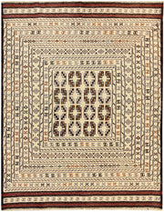 Blanched Almond Soumak 4' 3 x 5' 6 - No. 61932 - ALRUG Rug Store
