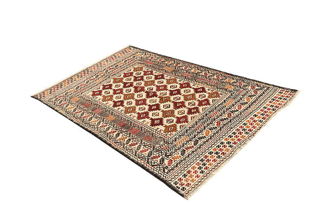 Blanched Almond Soumak 3' 11 x 6' 1 - No. 61934 - ALRUG Rug Store