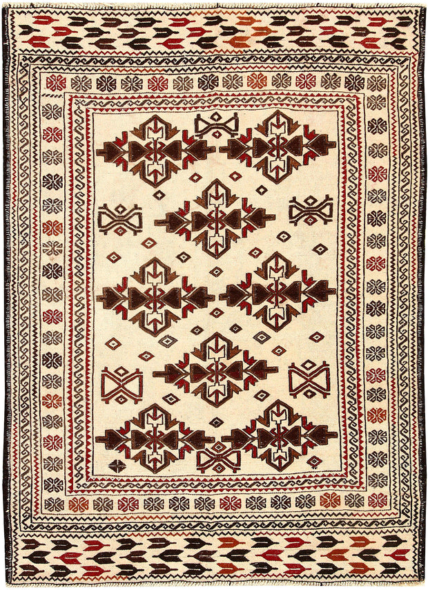 Old Lace Soumak 3' 11 x 5' 6 - No. 61946 - ALRUG Rug Store
