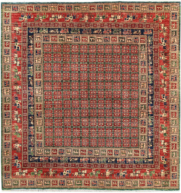 Multi Colored Ziegler 8' 7 x 8' 11 - No. 62196 - ALRUG Rug Store