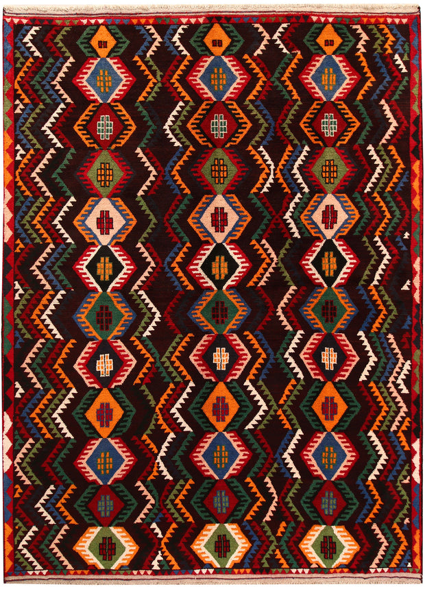 Multi Colored Baluchi 6' 9 x 9' 1 - No. 62411 - ALRUG Rug Store