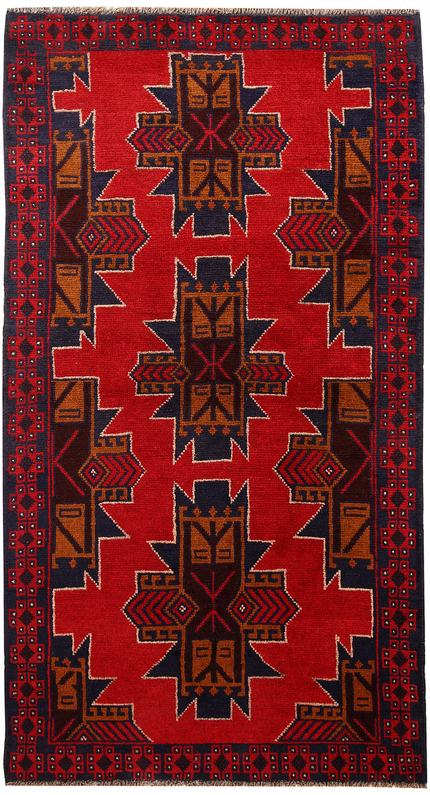 Multi Colored Baluchi 3' 5 x 6' 3 - No. 62432 - ALRUG Rug Store