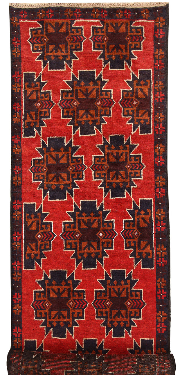 Orange Red Baluchi 2' 7 x 9' 7 - No. 62634 - ALRUG Rug Store