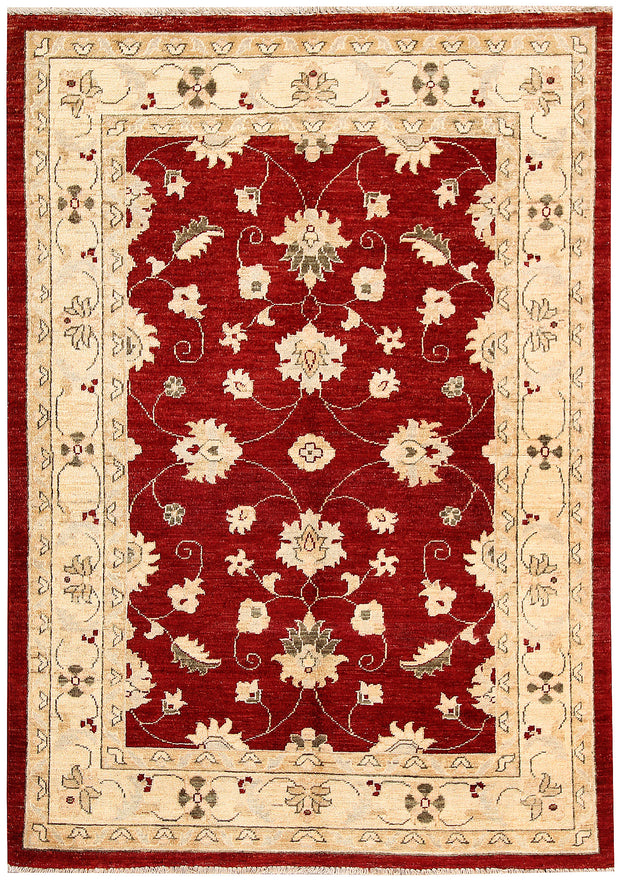 Dark Red Oushak 3' 10 x 5' 7 - No. 62840 - ALRUG Rug Store