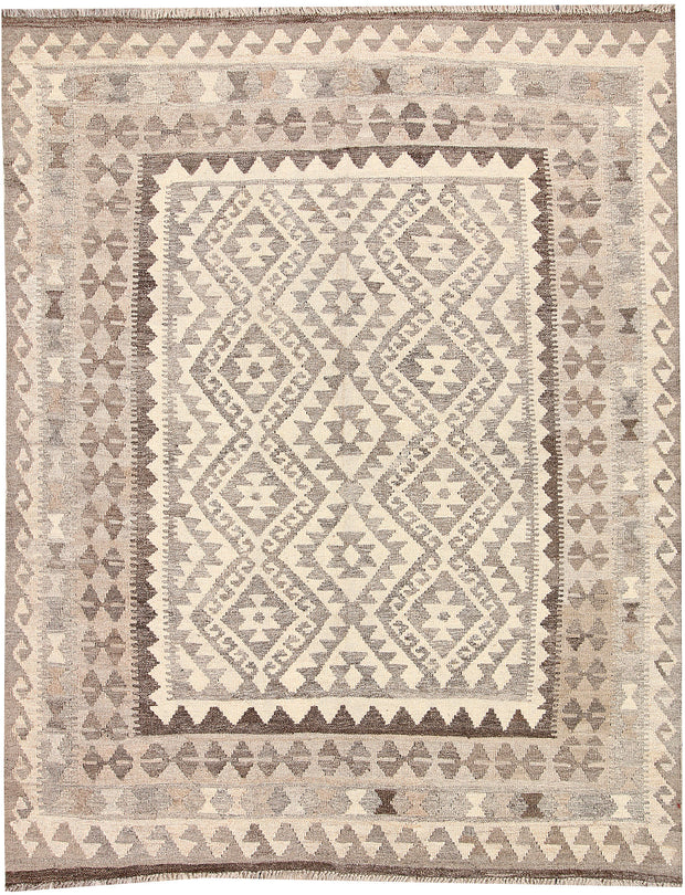 Light Grey Kilim 5' 1 x 6' 5 - No. 62886 - ALRUG Rug Store