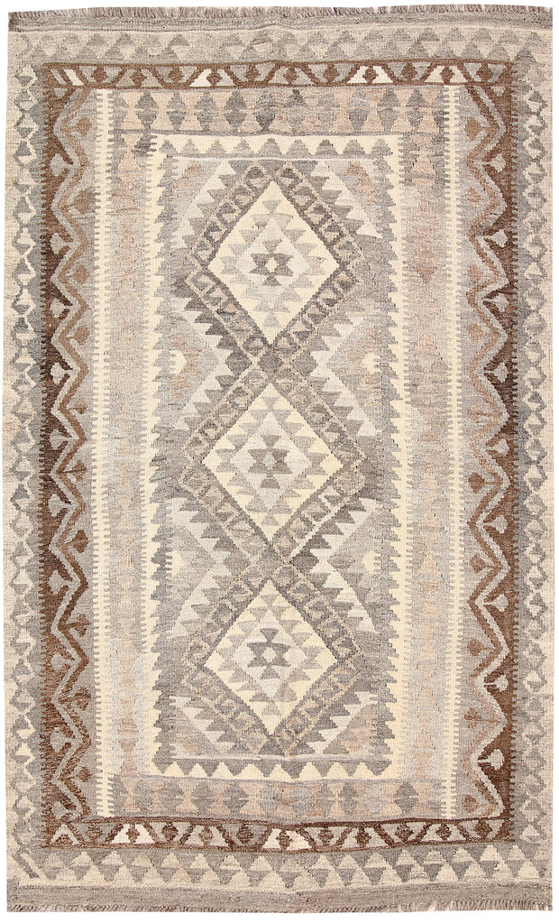 Light Grey Kilim 3' 10 x 6' 2 - No. 62927 - ALRUG Rug Store