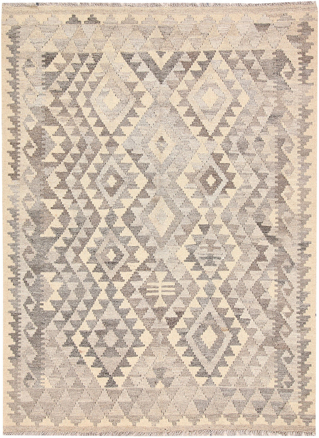 Light Grey Kilim 4' 2 x 5' 9 - No. 62934 - ALRUG Rug Store