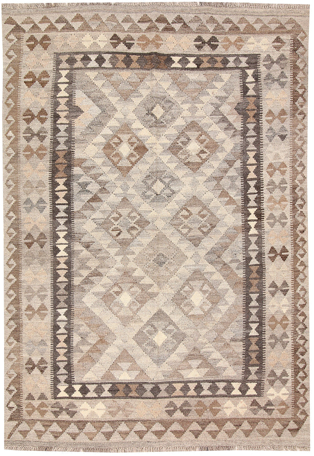 Light Grey Kilim 4' 2 x 6' 2 - No. 62935 - ALRUG Rug Store