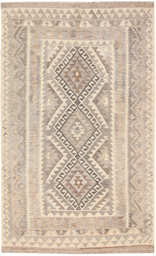 Light Grey Kilim 3' 11 x 6' 3 - No. 62936 - ALRUG Rug Store