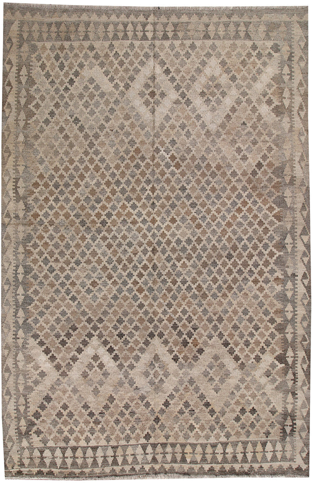 Light Grey Kilim 6' 7 x 9' 5 - No. 62988 - ALRUG Rug Store