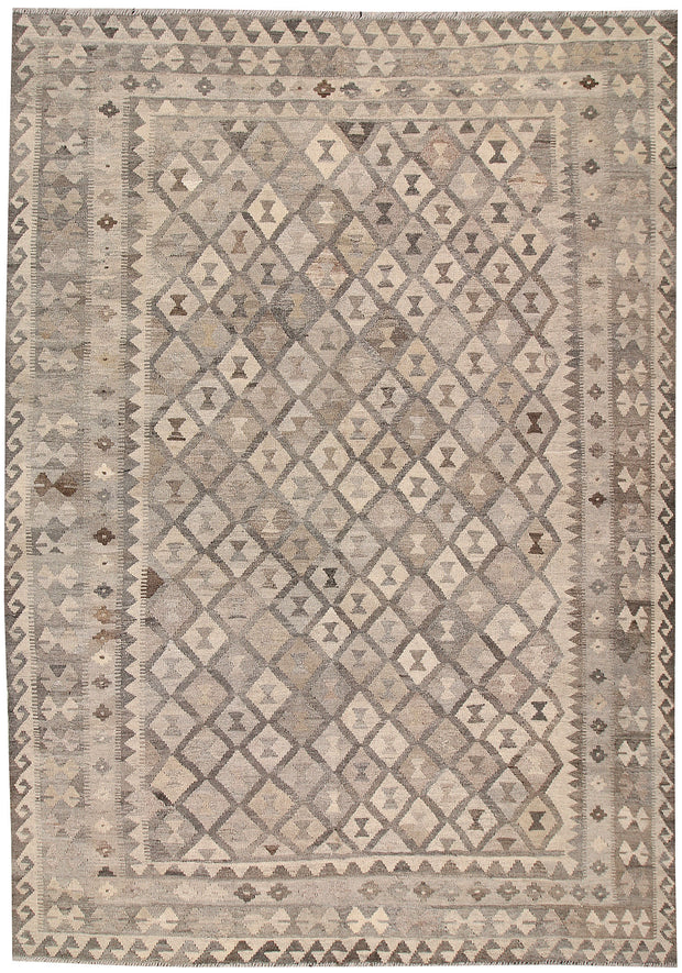 Light Grey Kilim 6' 9 x 9' 9 - No. 63006 - ALRUG Rug Store