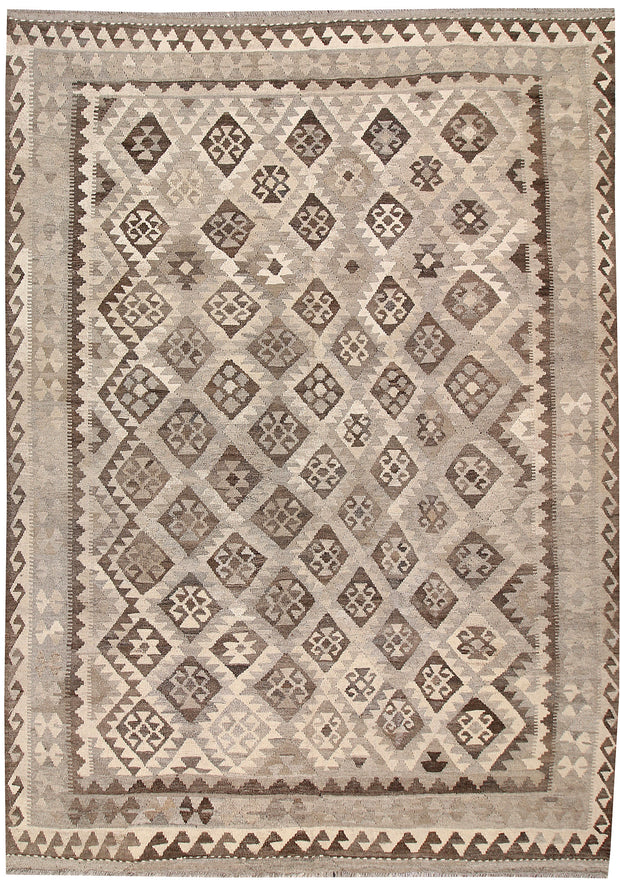Light Grey Kilim 6' 9 x 9' 6 - No. 63009 - ALRUG Rug Store