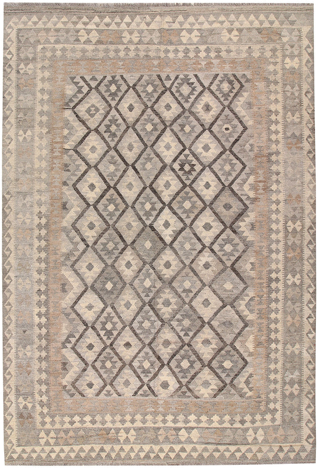 Light Grey Kilim 6' 7 x 9' 9 - No. 63015 - ALRUG Rug Store
