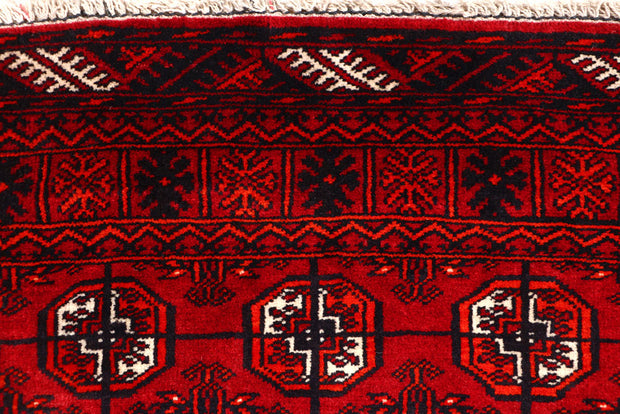 Dark Red Bokhara 2' 7 x 10' 11 - No. 63302 - ALRUG Rug Store