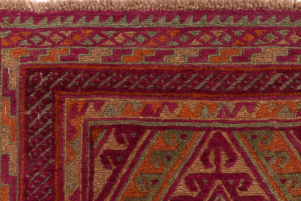 Multi Colored Mashwani 2' 7 x 12' 8 - No. 63311 - ALRUG Rug Store
