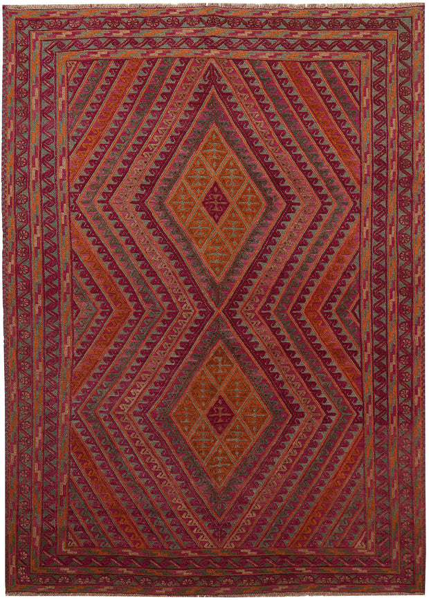Multi Colored Mashwani 6' 7 x 8' 11 - No. 63389 - ALRUG Rug Store