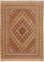 Multi Colored Mashwani 4' 9 x 6' 6 - No. 63399 - ALRUG Rug Store