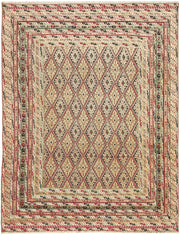 Multi Colored Mashwani 4' 10 x 6' 3 - No. 63404 - ALRUG Rug Store