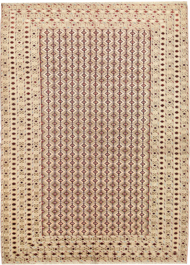 Multi Colored Mashwani 6' 9 x 9' 4 - No. 63406 - ALRUG Rug Store