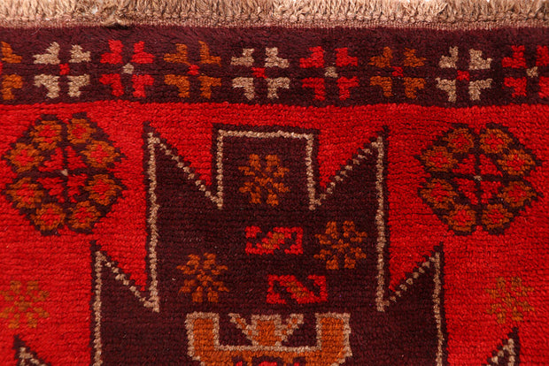 Dark Red Baluchi 2' 4 x 7' 10 - No. 63429 - ALRUG Rug Store