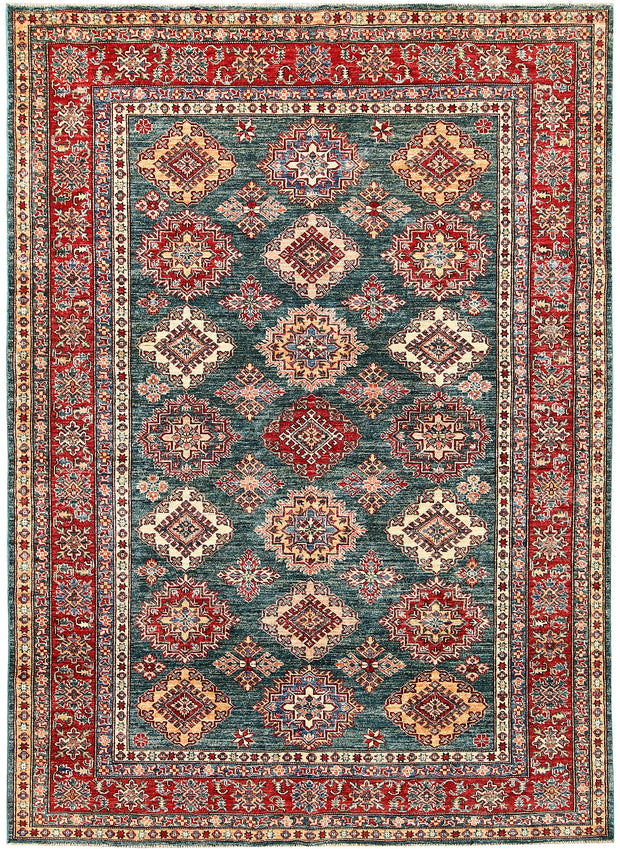 Dark Sea Green Kazak 5' 8 x 7' 10 - No. 63535 - ALRUG Rug Store