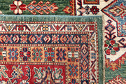 Dark Sea Green Kazak 10' x 13' 1 - No. 63536 - ALRUG Rug Store