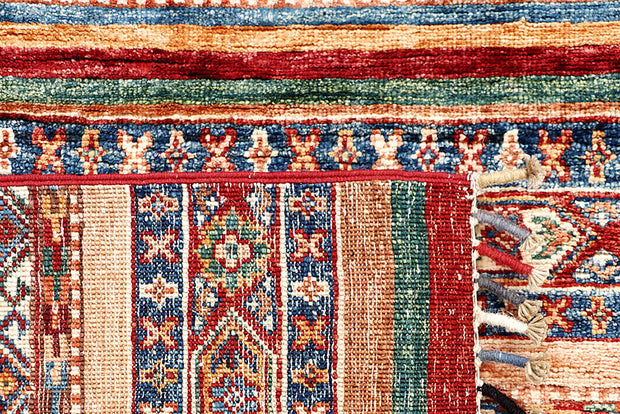 Multi Colored Kazak 2' 9 x 9' 9 - No. 63554 - ALRUG Rug Store