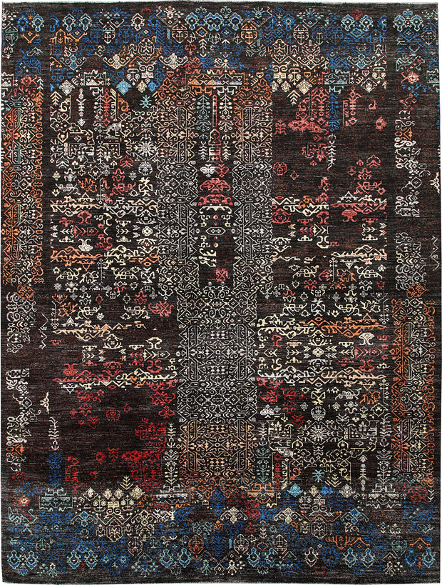 Multi Colored Gabbeh 9' x 12' 1 - No. 63568 - ALRUG Rug Store